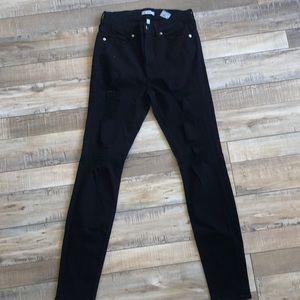 Good American - Good Legs black distressed jeans!